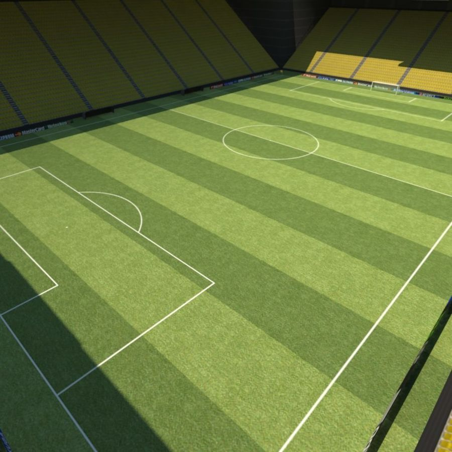 Soccer Stadiums Pack royalty-free 3d model - Preview no. 7