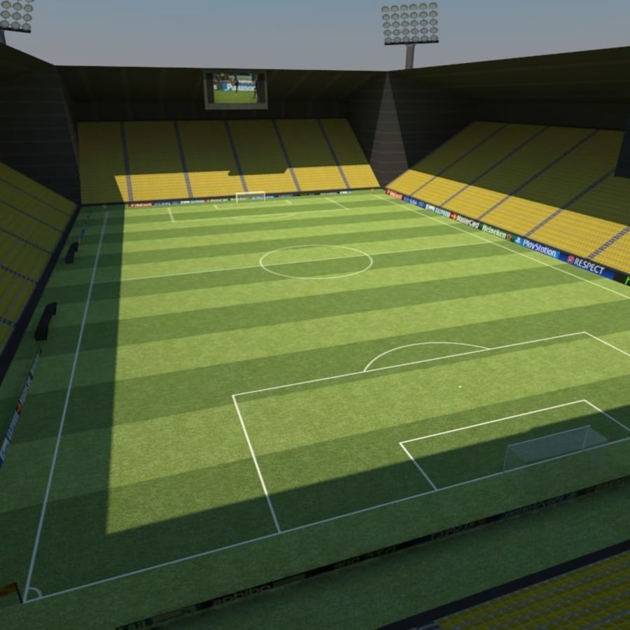 Soccer Stadiums Pack royalty-free 3d model - Preview no. 2