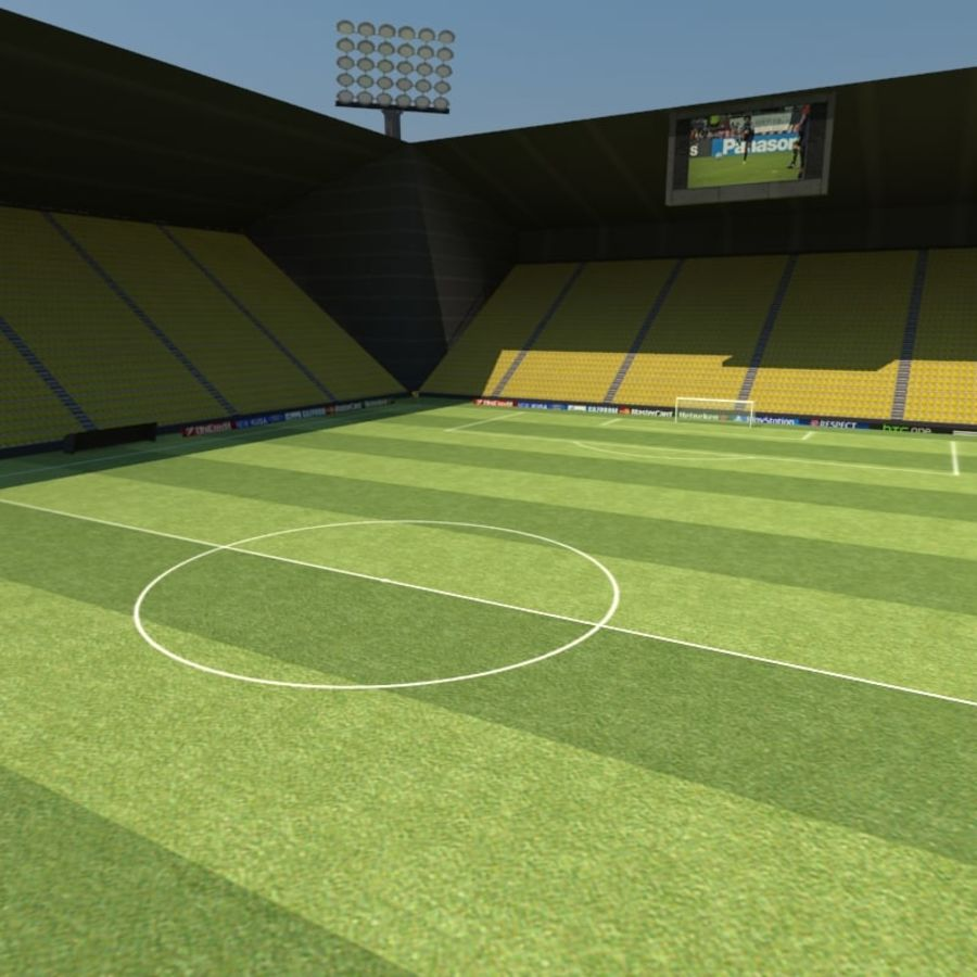 Soccer Stadiums Pack royalty-free 3d model - Preview no. 11