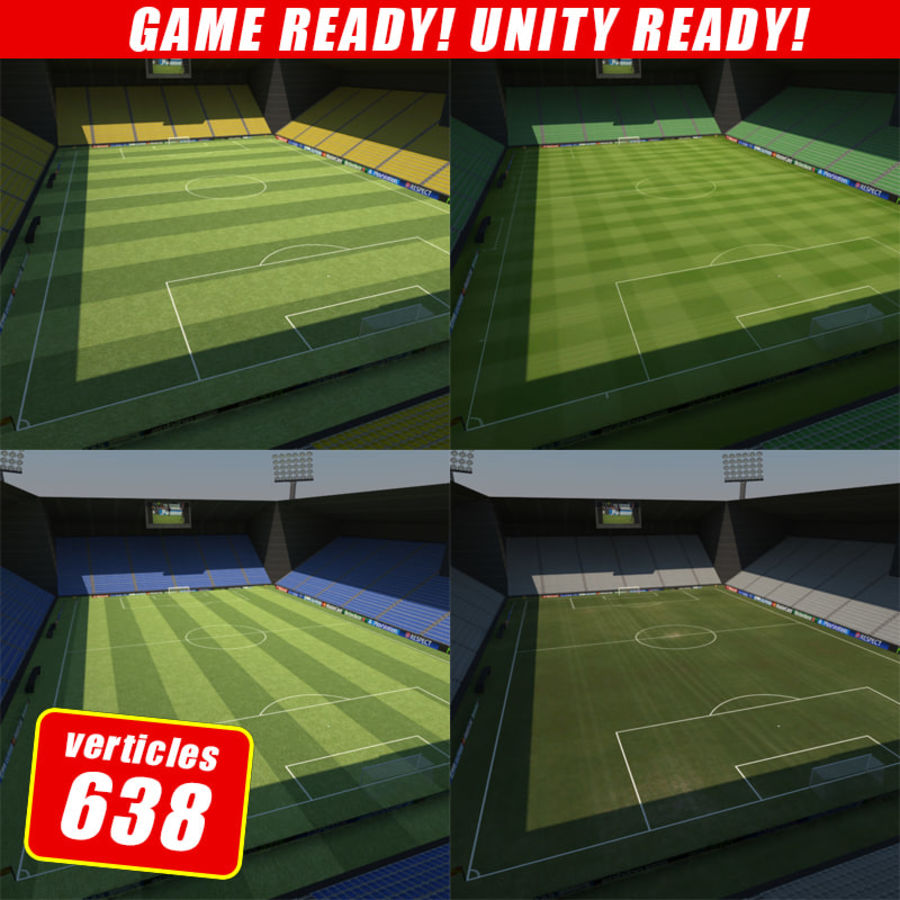 Soccer Stadiums Pack royalty-free 3d model - Preview no. 1