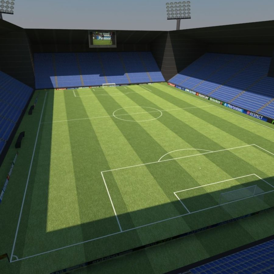 Soccer Stadiums Pack royalty-free 3d model - Preview no. 3