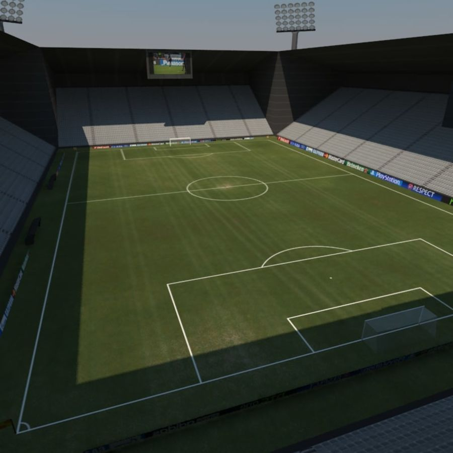 Soccer Stadiums Pack royalty-free 3d model - Preview no. 4