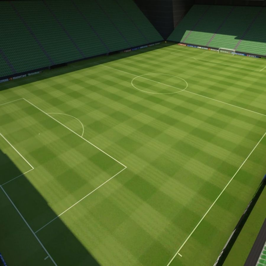 Soccer Stadiums Pack royalty-free 3d model - Preview no. 10