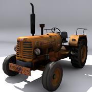 Трактор с вариациями текстуры 3d model