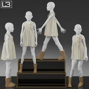 Витрина магазина Детский манекен 007 3d model