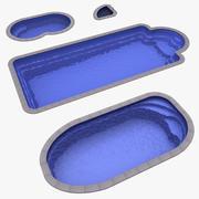 4 Plastic Pools 3d model