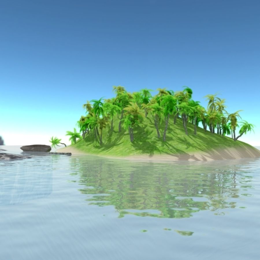 Island royalty-free 3d model - Preview no. 2