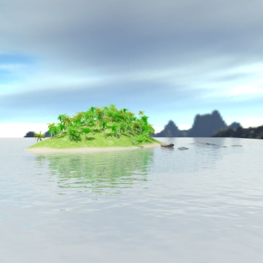 Island royalty-free 3d model - Preview no. 5