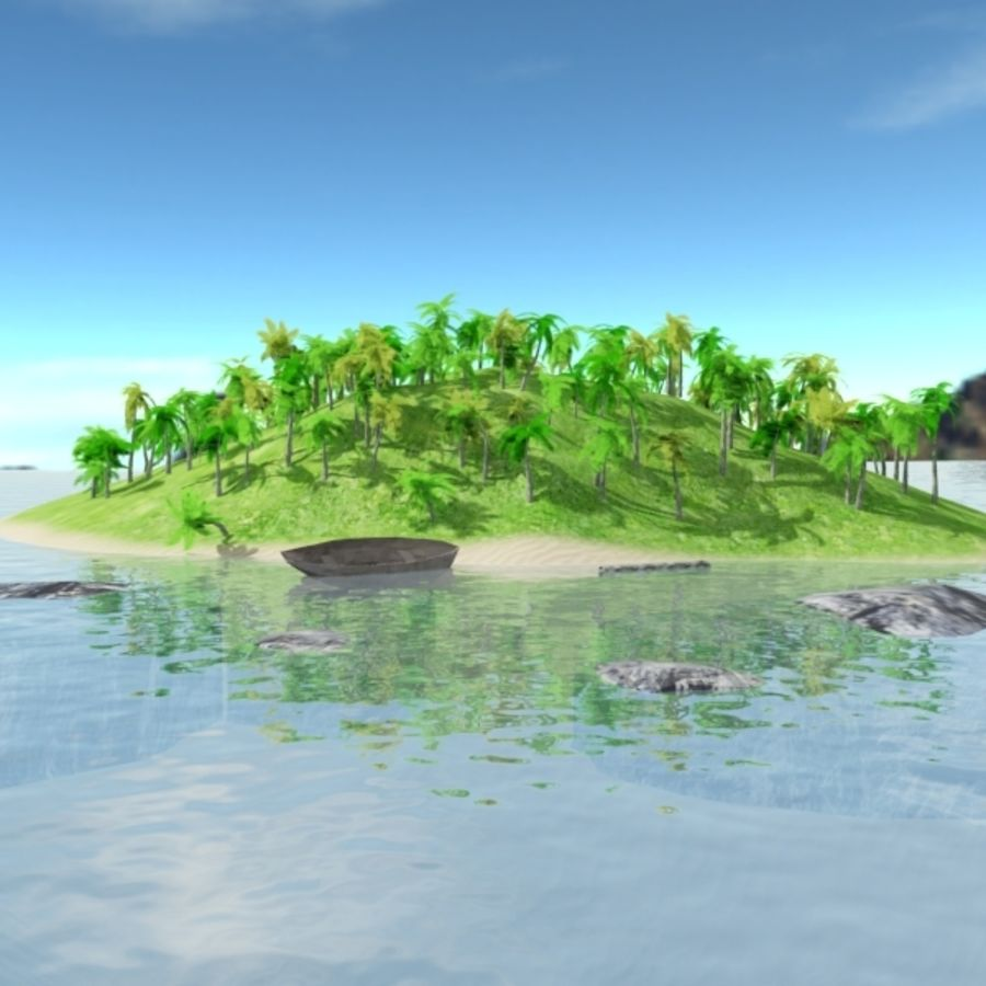 Island royalty-free 3d model - Preview no. 1