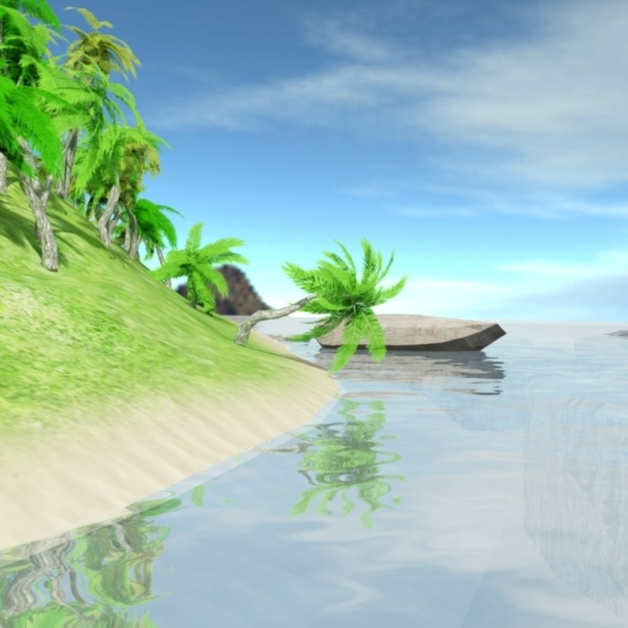 Island royalty-free 3d model - Preview no. 7