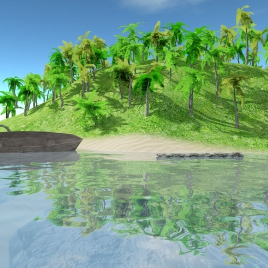 Island royalty-free 3d model - Preview no. 4