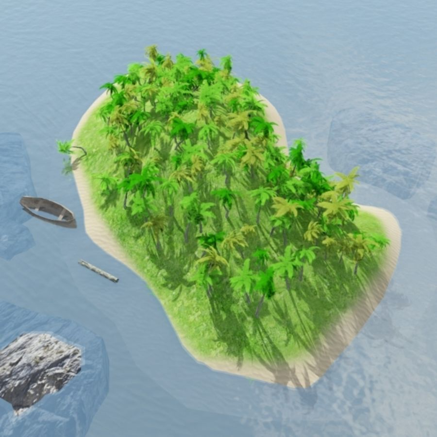 Island royalty-free 3d model - Preview no. 6
