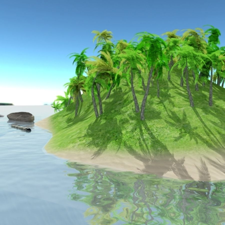 Island royalty-free 3d model - Preview no. 3