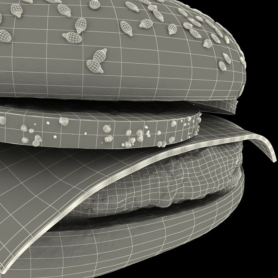 Fast Food Koleksiyonu royalty-free 3d model - Preview no. 22
