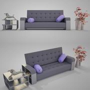 Современный диван 004 3d model