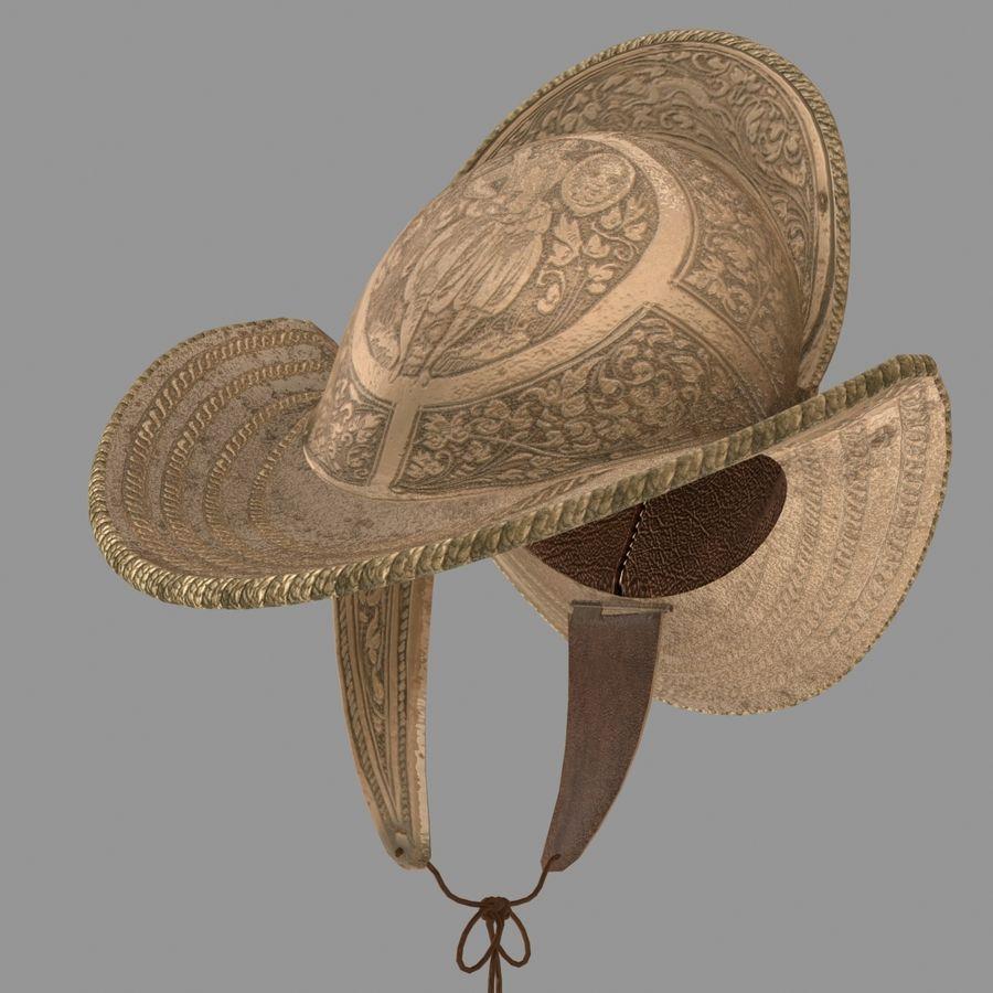 Pettine per casco Morion royalty-free 3d model - Preview no. 5