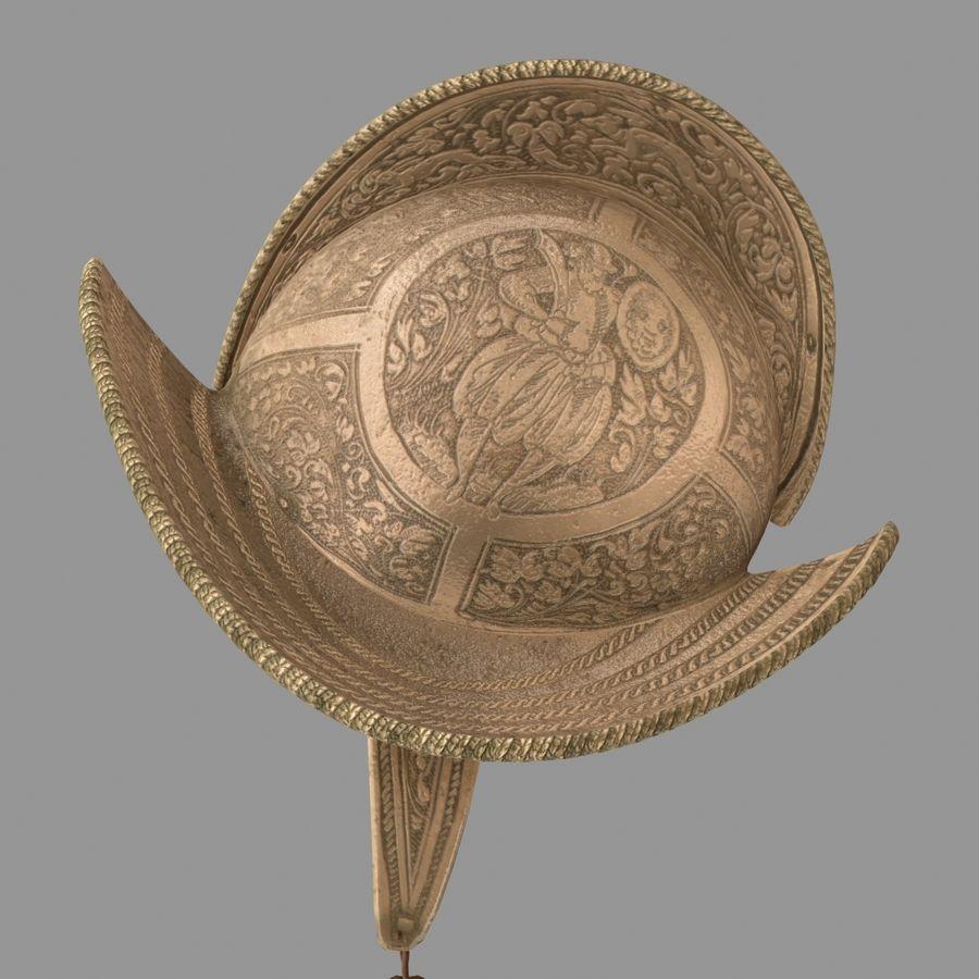 Pettine per casco Morion royalty-free 3d model - Preview no. 4