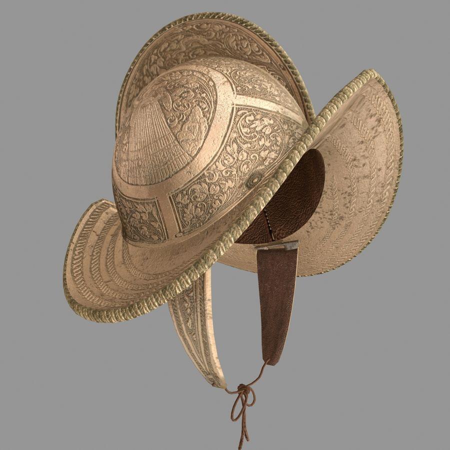 Pettine per casco Morion royalty-free 3d model - Preview no. 2
