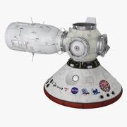 Módulos espaciales modelo 3d