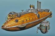 Argo Hippocamp Steampunk Submarine 3d model