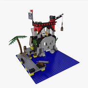 Lego Skull Island 3d model