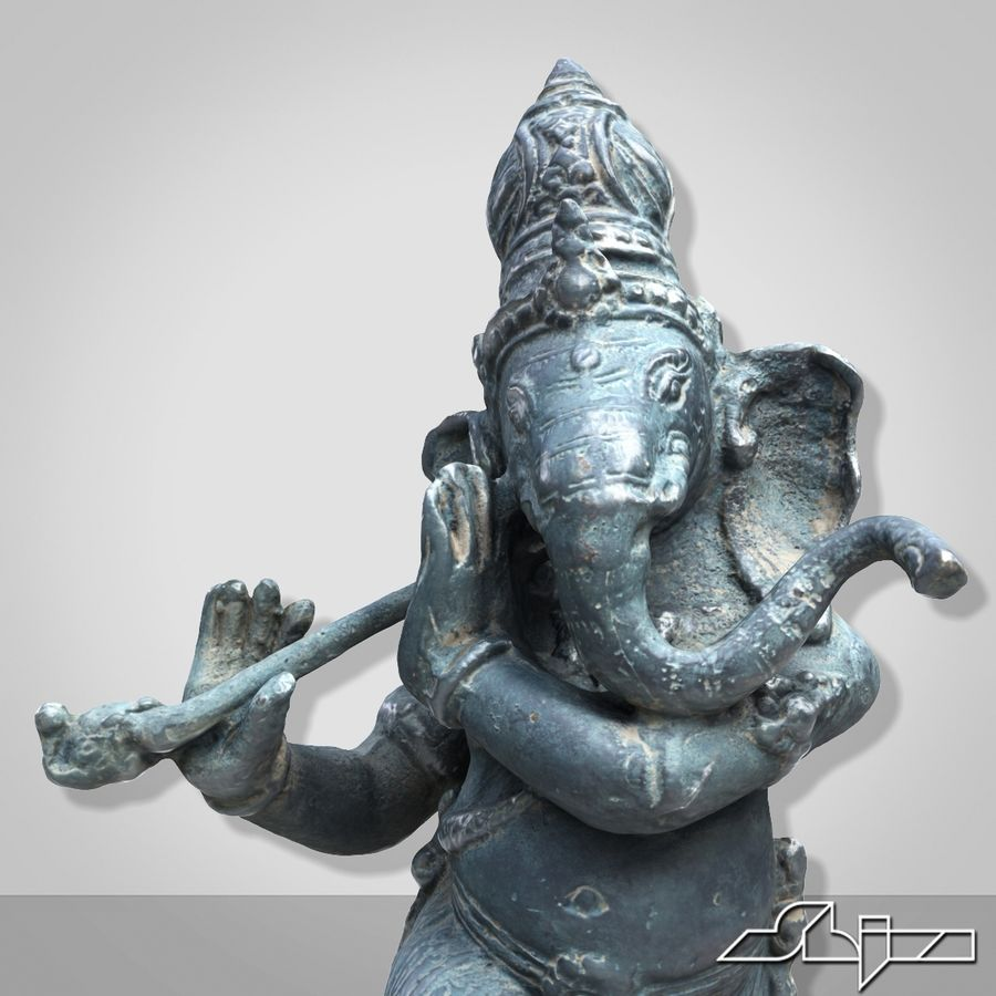 Dans Ganesha royalty-free 3d model - Preview no. 7