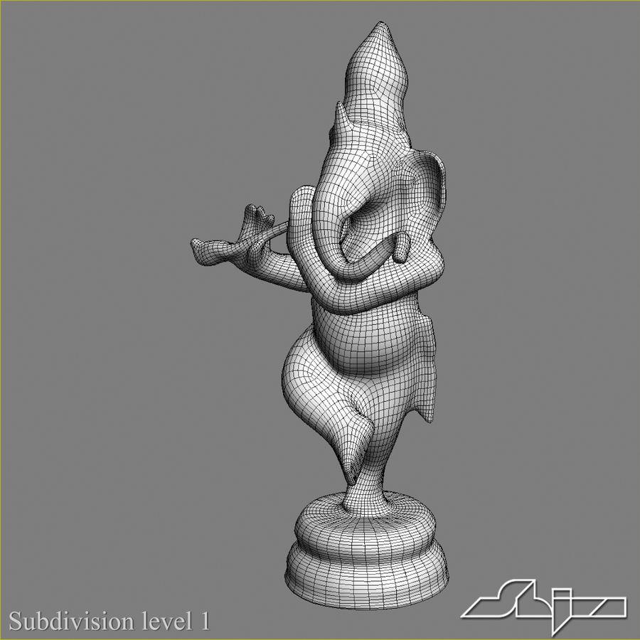 Dans Ganesha royalty-free 3d model - Preview no. 11