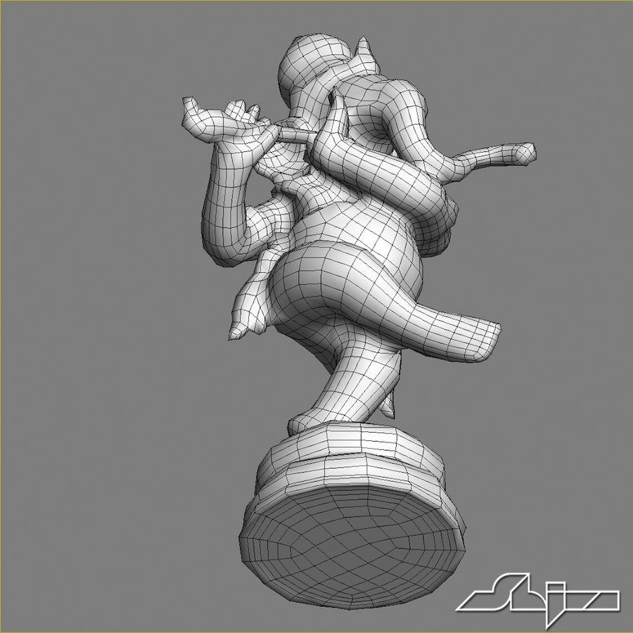 Dans Ganesha royalty-free 3d model - Preview no. 19