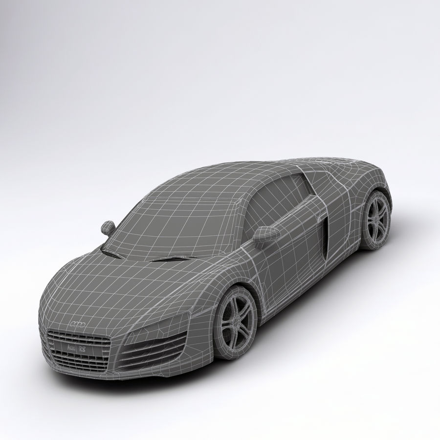 Audi R8 royalty-free 3d model - Preview no. 14