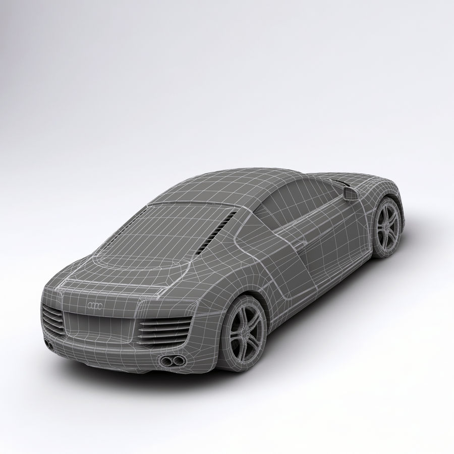 Audi R8 royalty-free 3d model - Preview no. 15