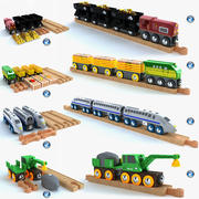 Kids train toy collection 3d model