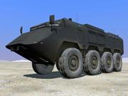 Veicolo di sicurezza corazzato 8x8 ASV 3d model