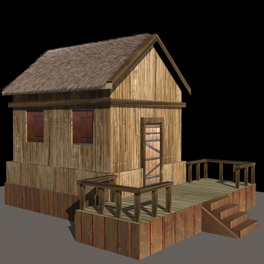 오두막 royalty-free 3d model - Preview no. 1