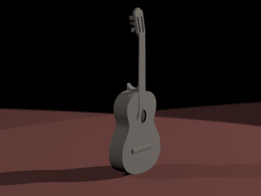 GuitarraCriollaClasica royalty-free 3d model - Preview no. 2