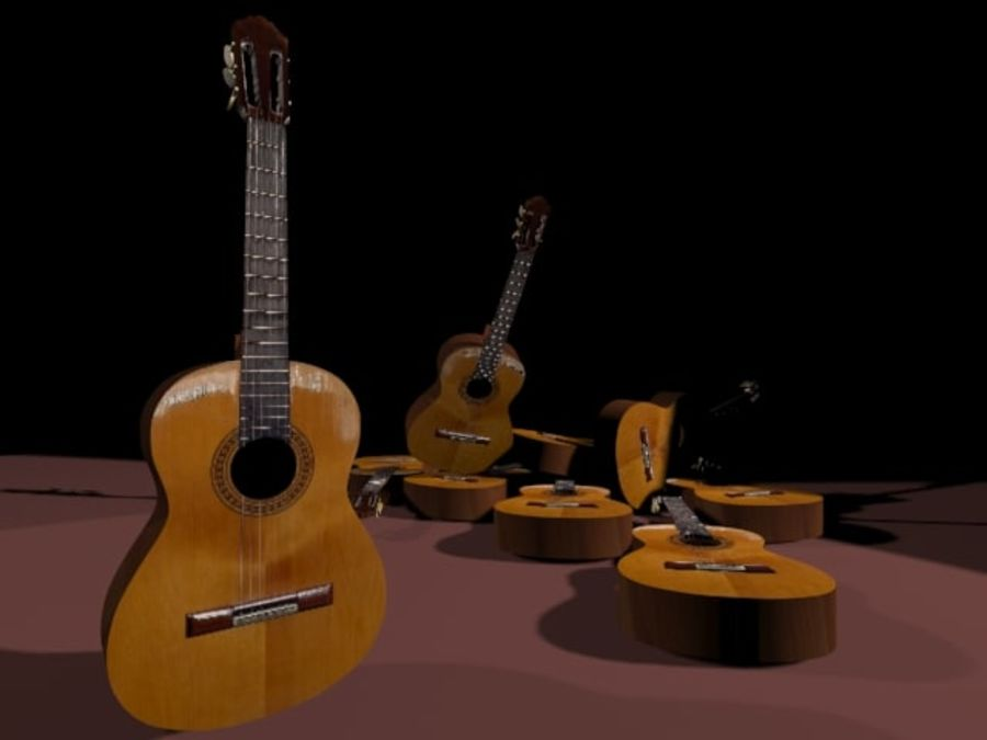 GuitarraCriollaClasica royalty-free 3d model - Preview no. 6