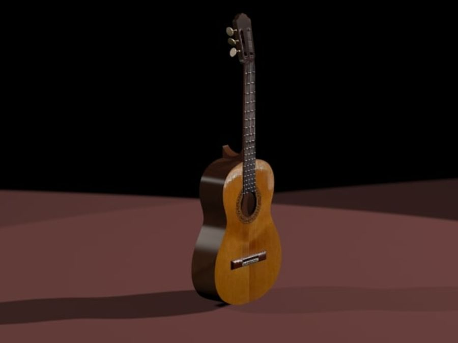 GuitarraCriollaClasica royalty-free 3d model - Preview no. 1