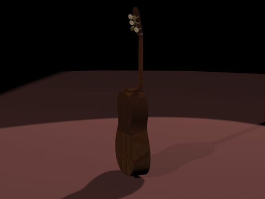 GuitarraCriollaClasica royalty-free 3d model - Preview no. 4