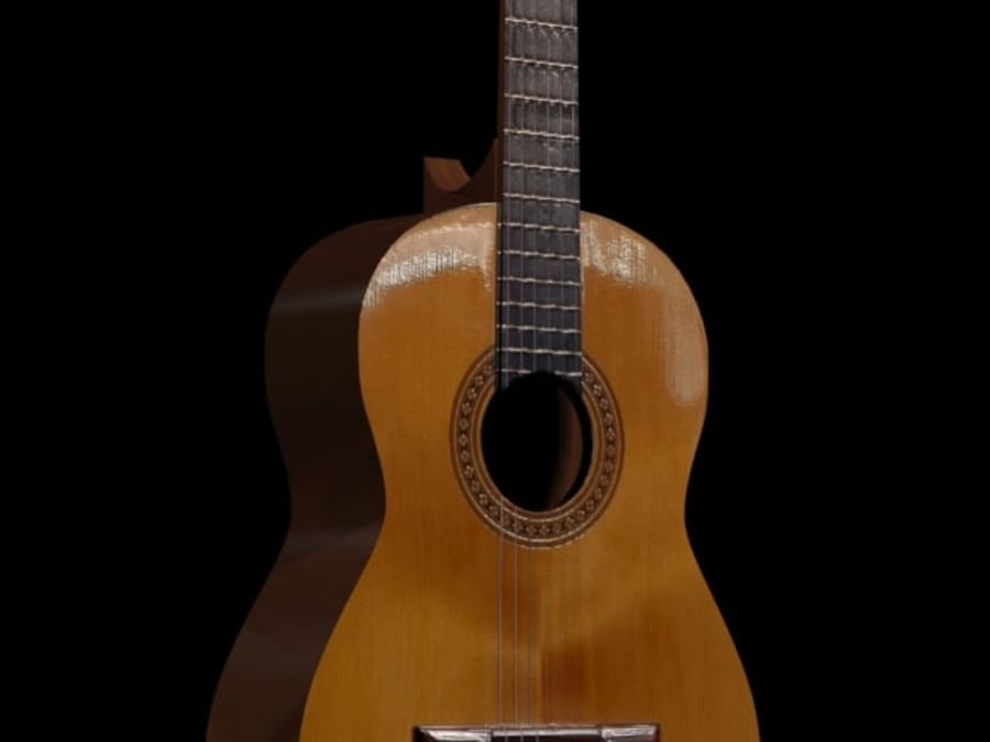 GuitarraCriollaClasica royalty-free 3d model - Preview no. 5