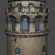Lowpoly Galata Tower 3d model