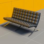 Mies Van Der Rohe Couch 3d model