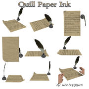 Quill, Paper, Ink 3d model