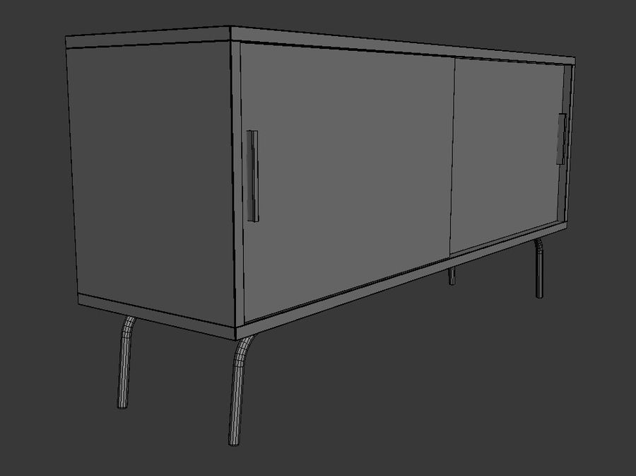 Ikea PS-skåp royalty-free 3d model - Preview no. 6