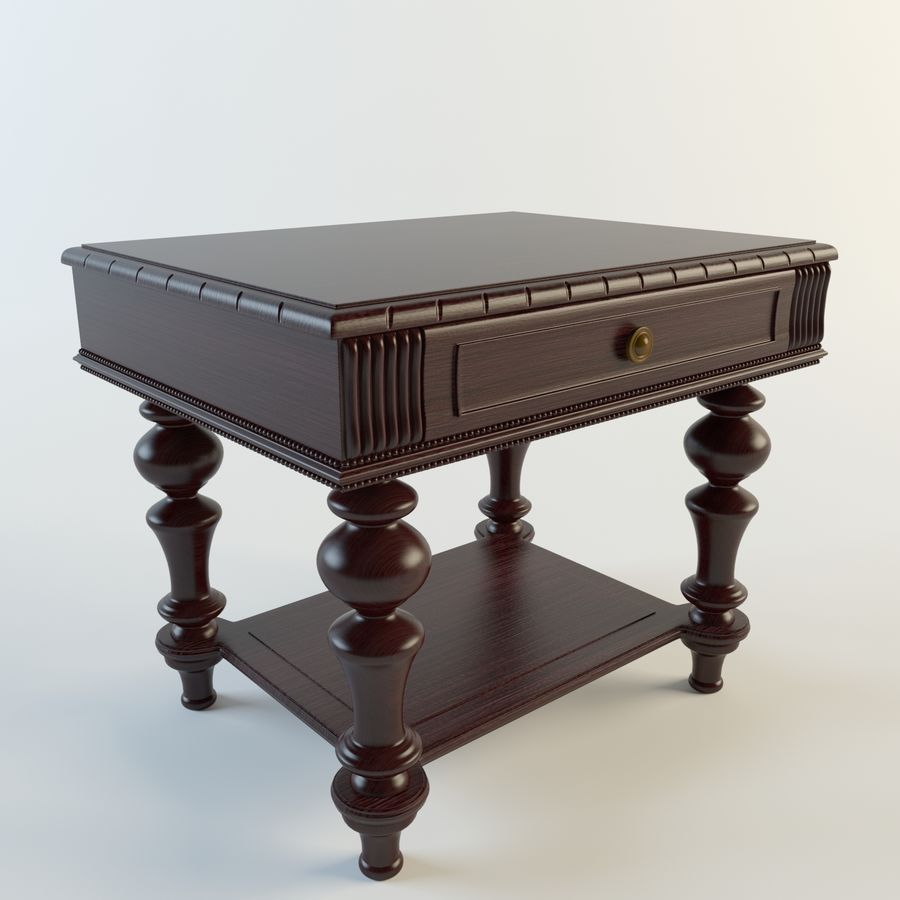 classic coffee table 3d model 10