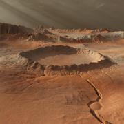 带有火星的火星般的风景 3d model