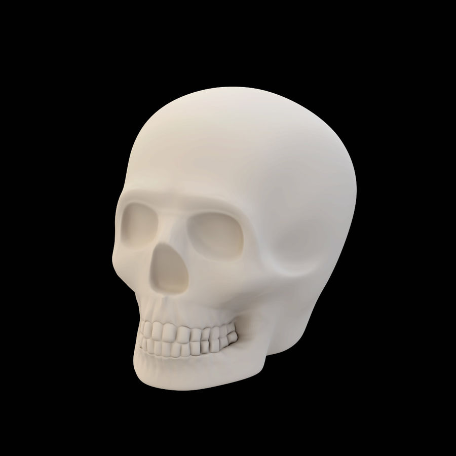 Crâne imprimable royalty-free 3d model - Preview no. 1