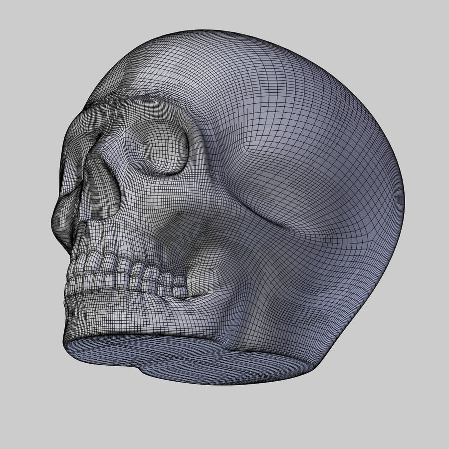 Crâne imprimable royalty-free 3d model - Preview no. 2