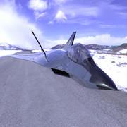 F-24A Tomcat 2 (Poser and Vue) 3d model