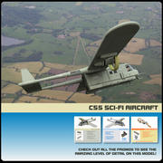 C-55 Rex Transport Aircraft (for Poser) 3d model