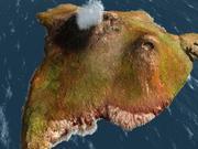 火山岛 3d model