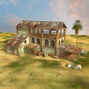 Hütte, Haus, altes Haus für 3D-Spiele 3d model